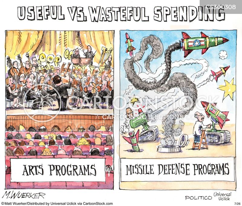 wasteful spending cartoon