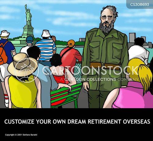 retirement abroad cartoon