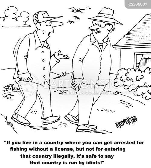 fishing licenses cartoon