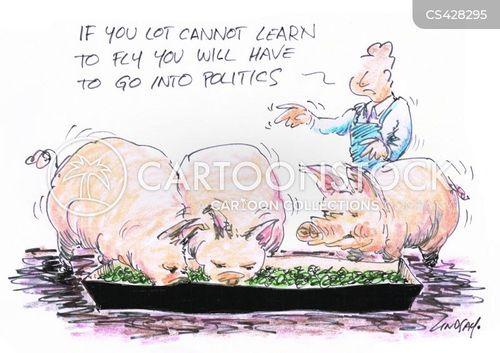 when pigs fly cartoon