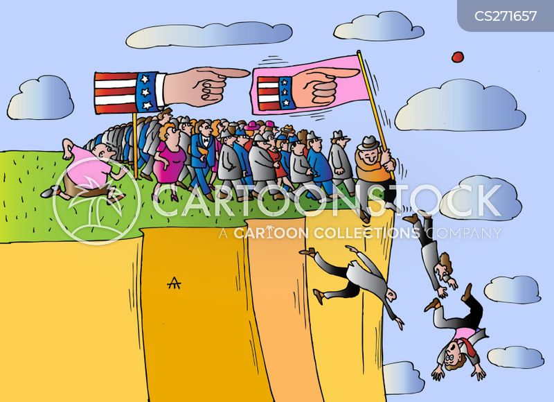 cliff-edge cartoon