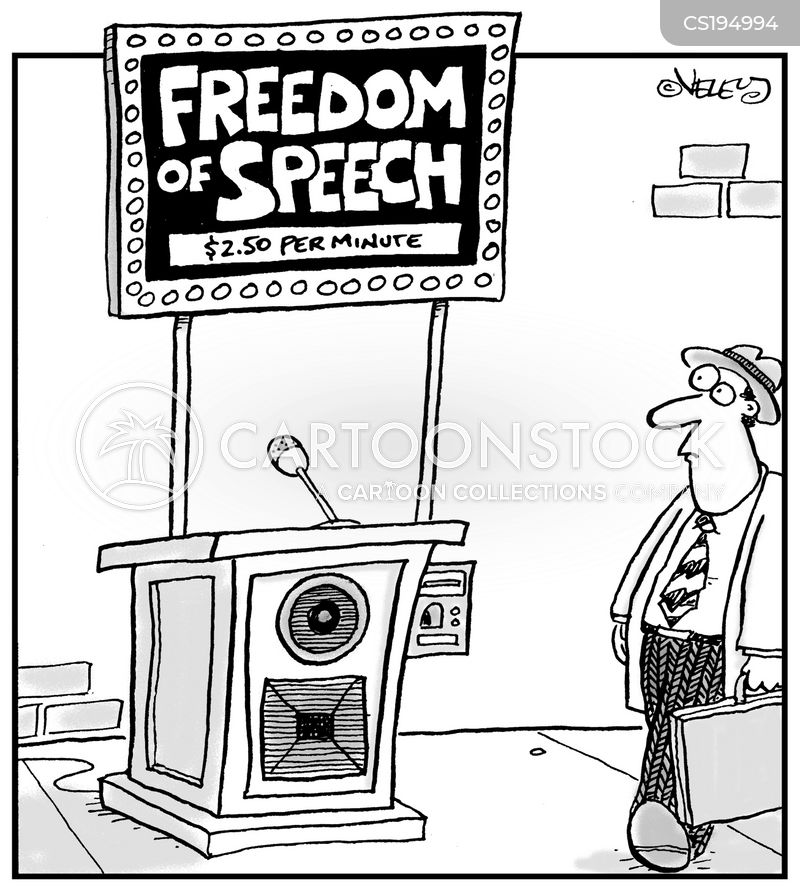 freedom of speech cartoon