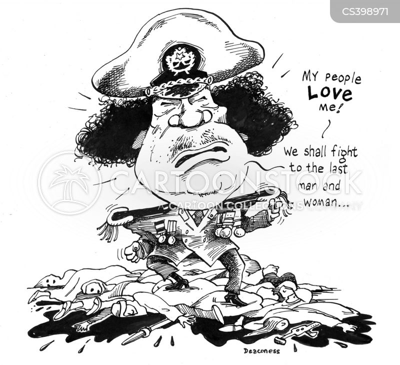 gadaffi cartoon