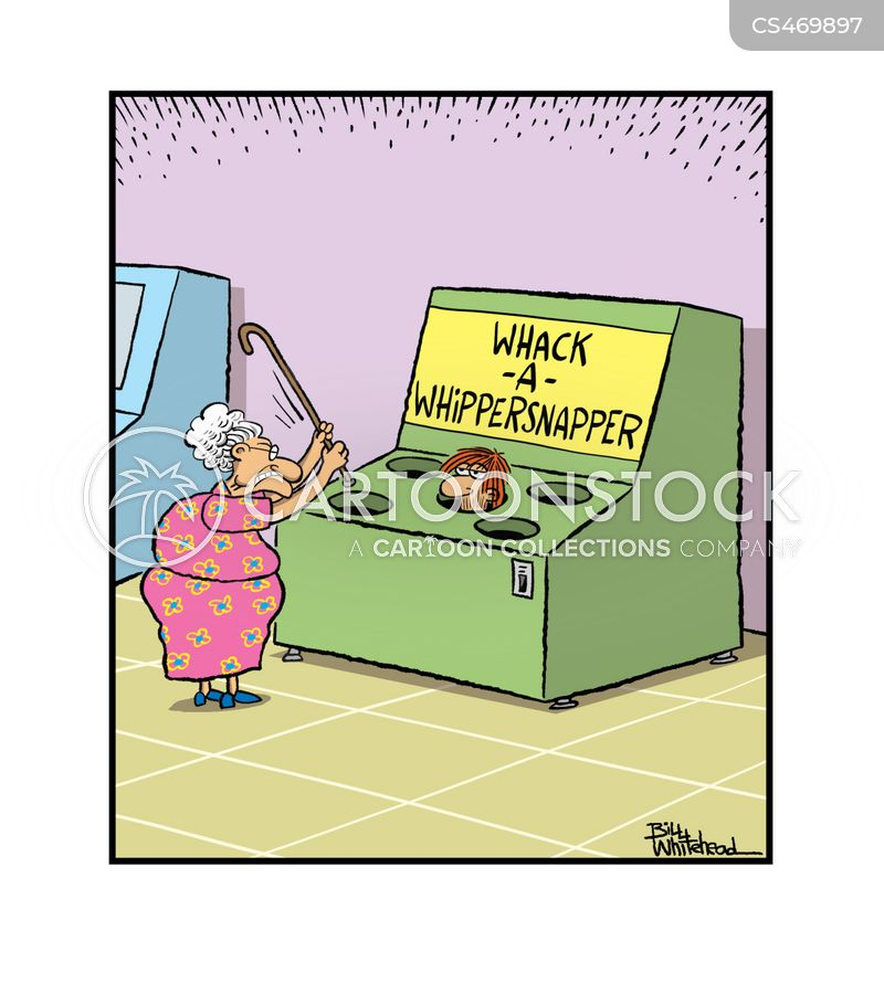 elderly woman cartoon