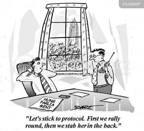 infighting cartoon