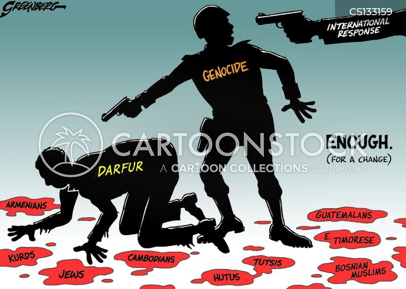genocide cartoon