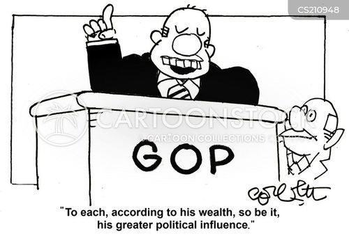 political influences cartoon