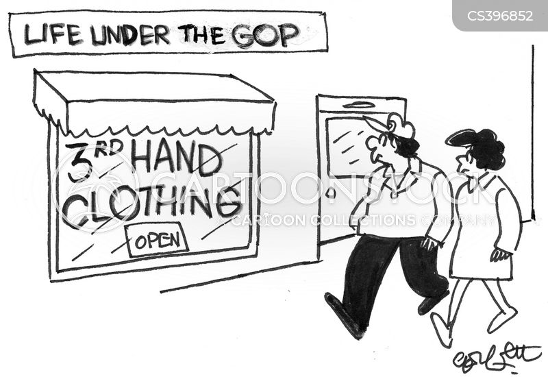 second hand clothes cartoon