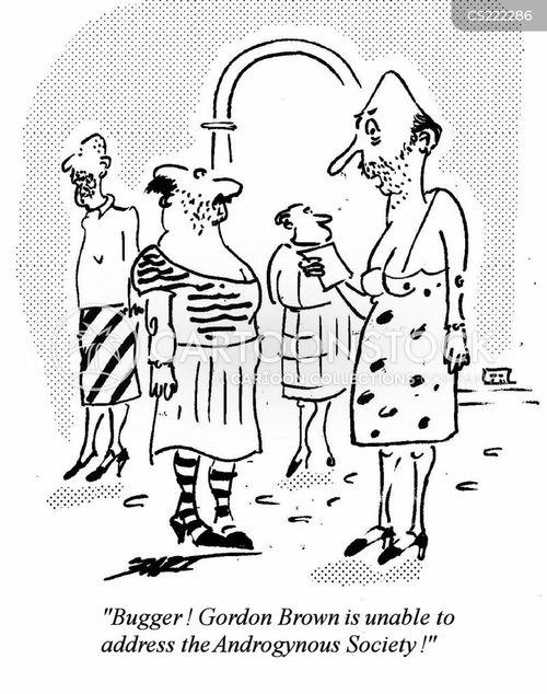 androgynous cartoon