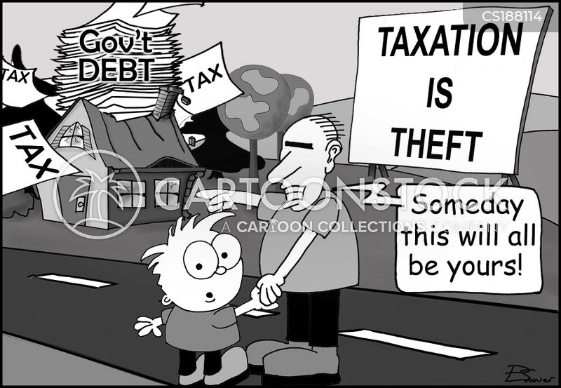tax pay burden cartoon