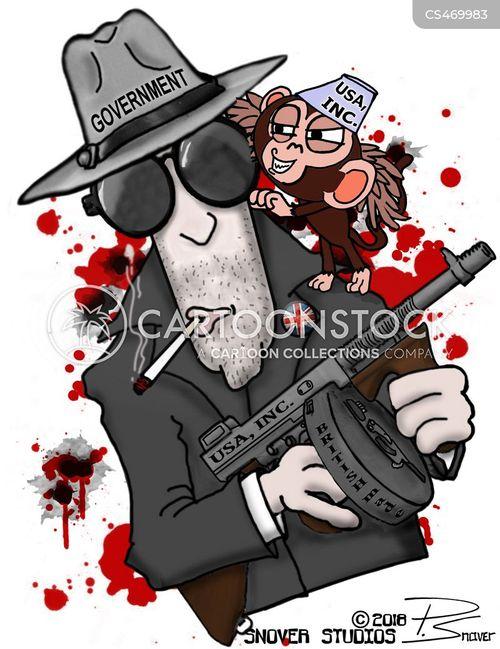tommy gun cartoon