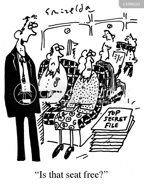 free seat cartoon