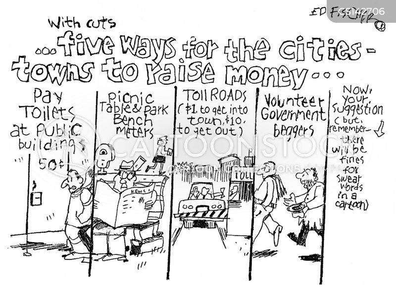 city budget cartoon