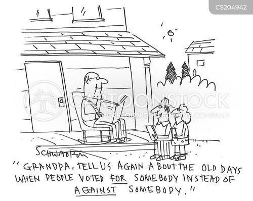 political polarization cartoon