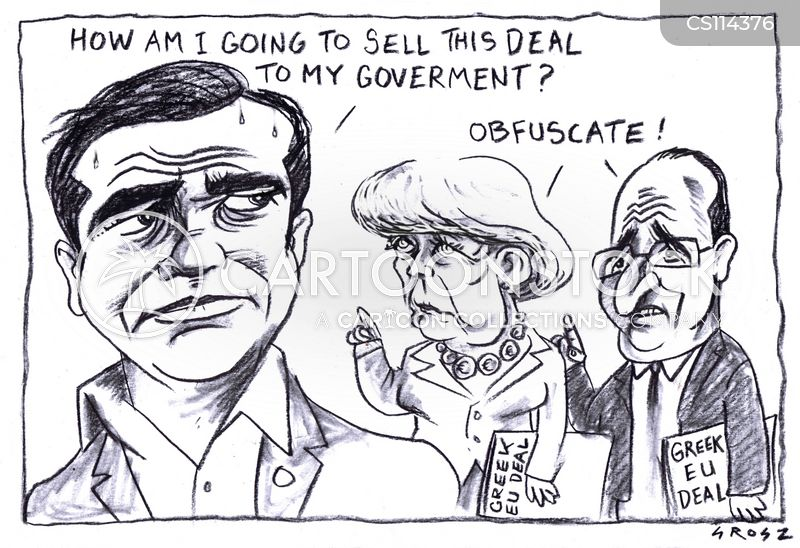 greek debt crisis cartoon