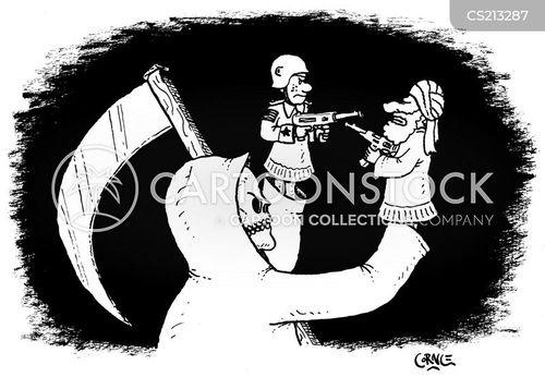 war-mongering cartoon