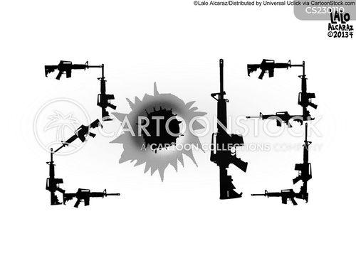 gun debates cartoon