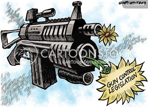 gun control law cartoon