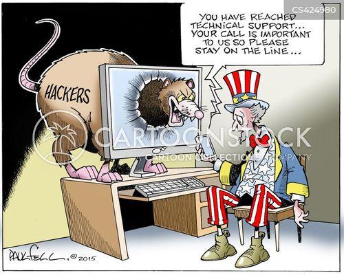 cyber-attack cartoon