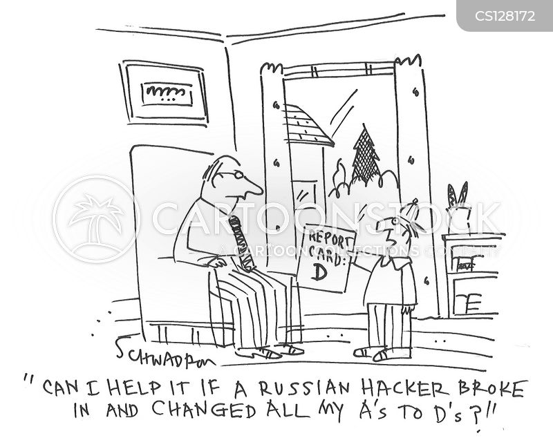 russian hackers cartoon