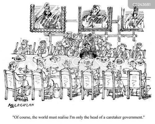 caretaker government cartoon