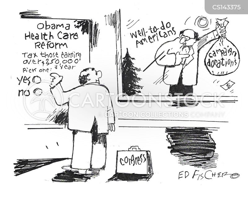 political donation cartoon
