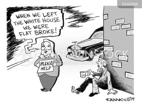 flat broke cartoon