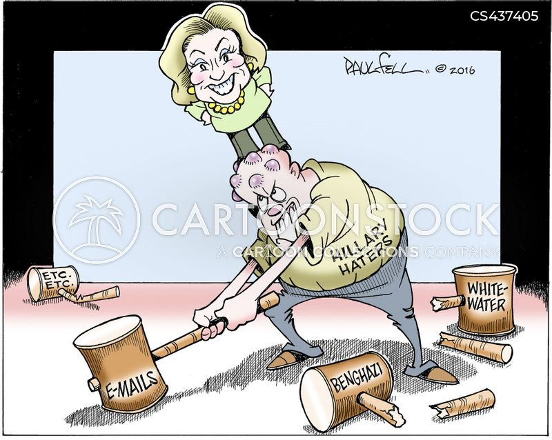whitewater scandal cartoon
