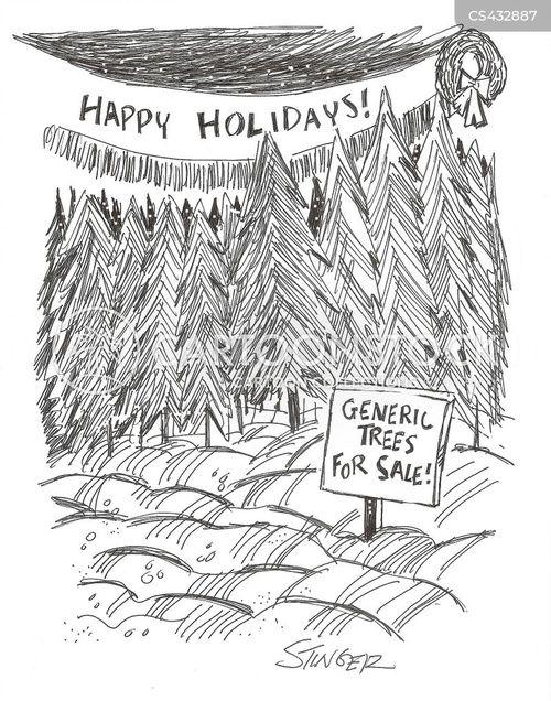 xmas trees cartoon