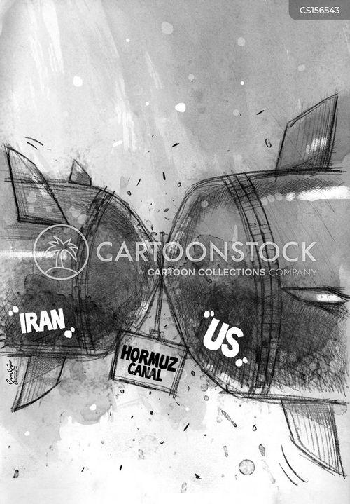 blockading cartoon
