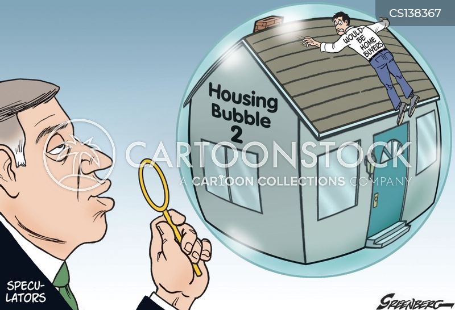 housing bubbles cartoon