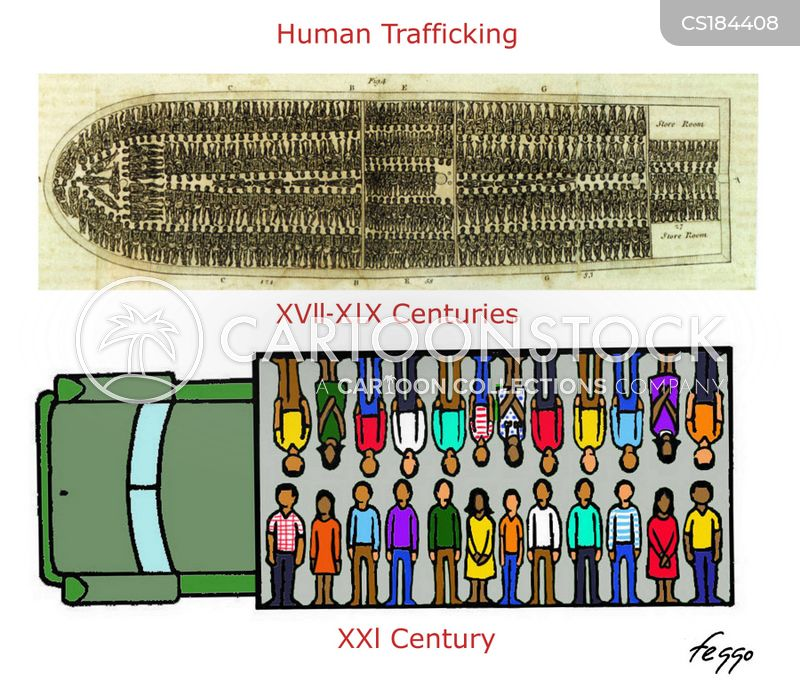 human trafficking cartoon