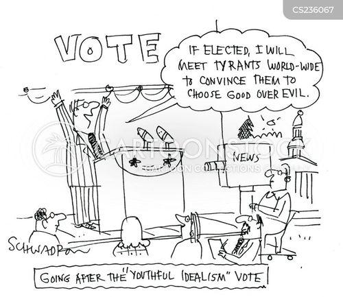 idealist cartoon