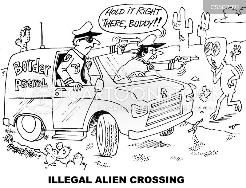 border crossing cartoon