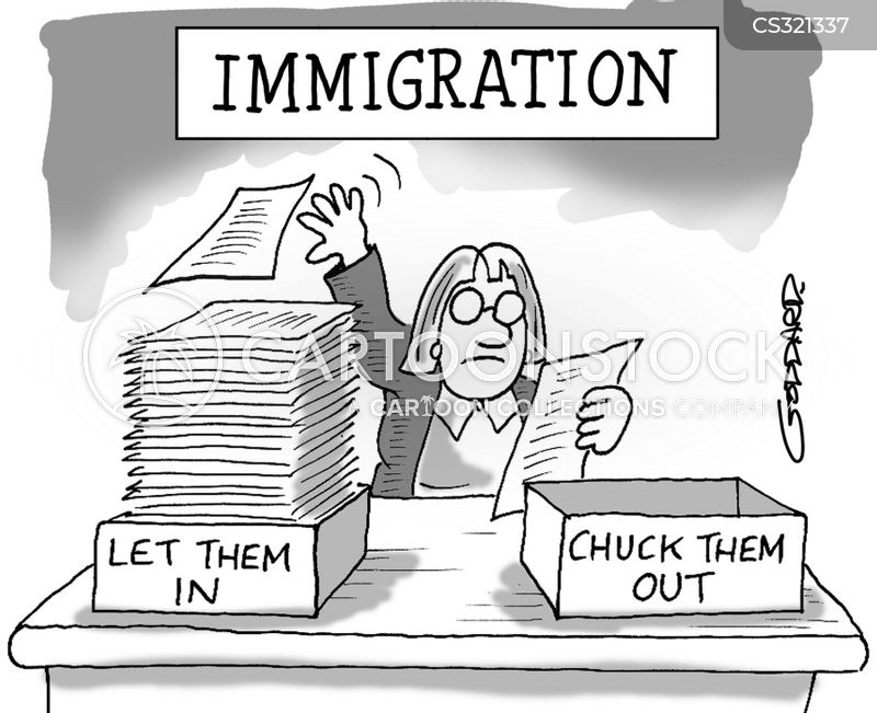Image result for US government's immigration policy. CARTOON