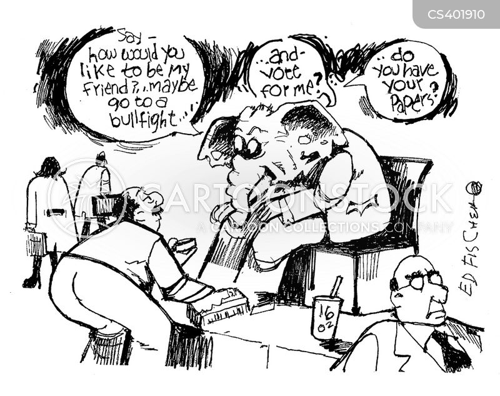 voting demographic cartoon