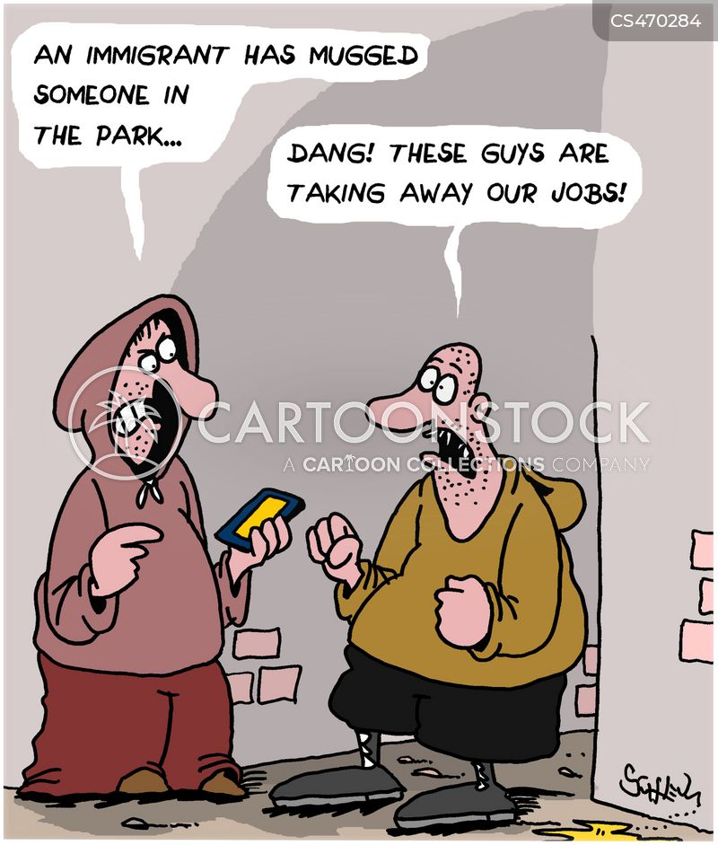 economic migrant cartoon