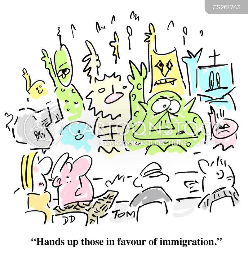 immigration rule cartoon