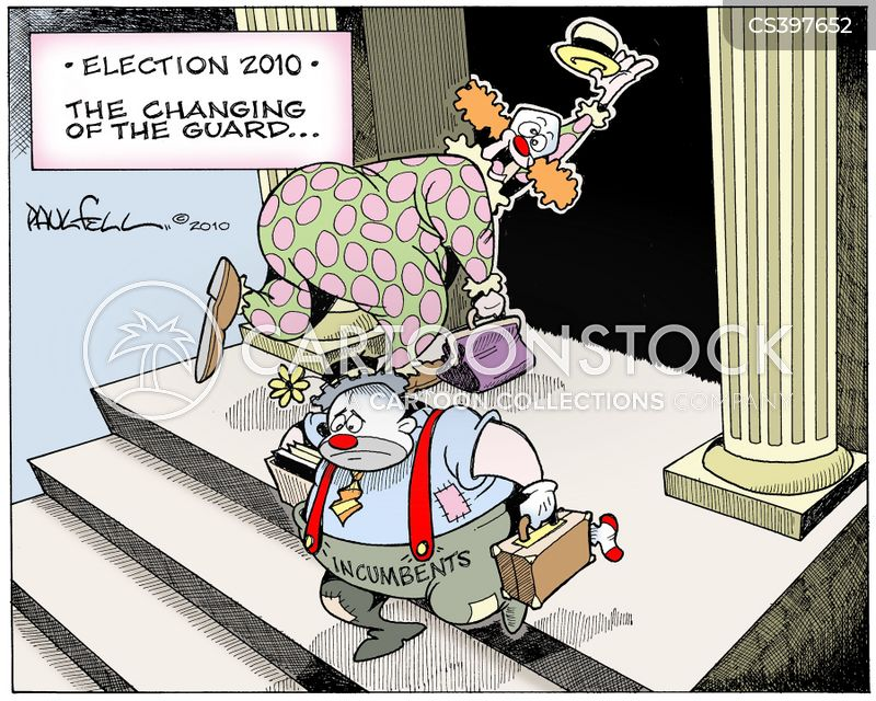 incumbents ousted cartoon