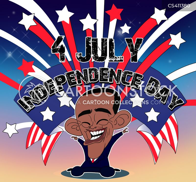 american independence cartoon