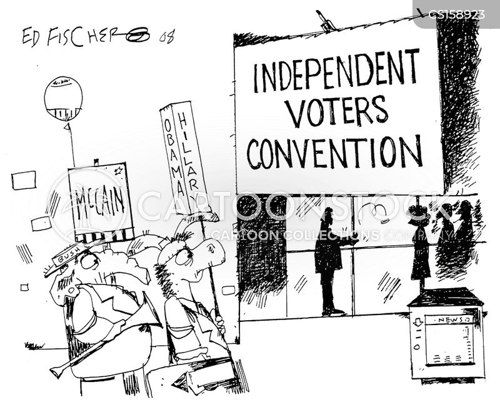 voting convention cartoon