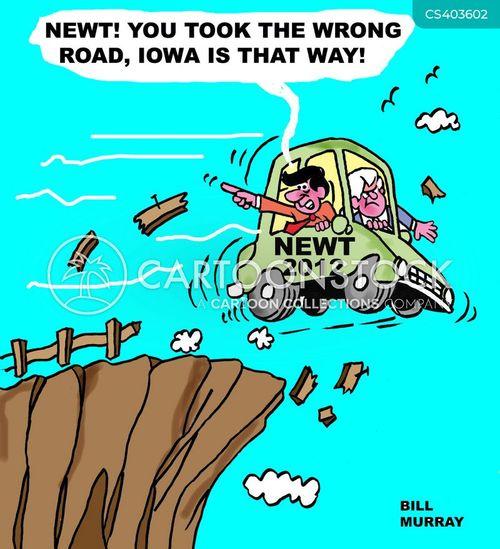iowa caucus cartoon