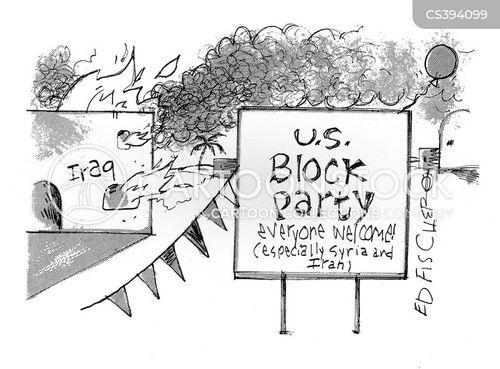 block party cartoon