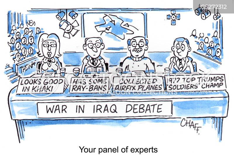 war on iraq cartoon