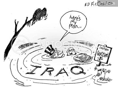 iraq crisis cartoon