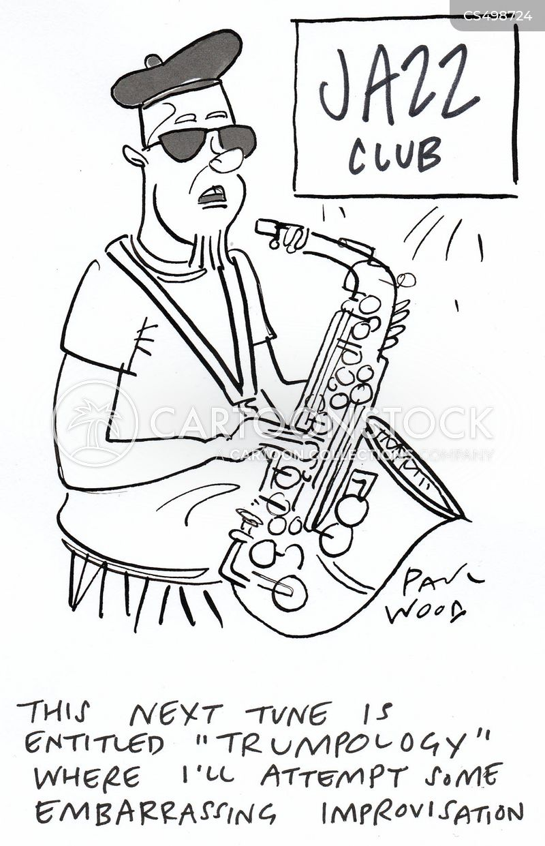 jazz club cartoon