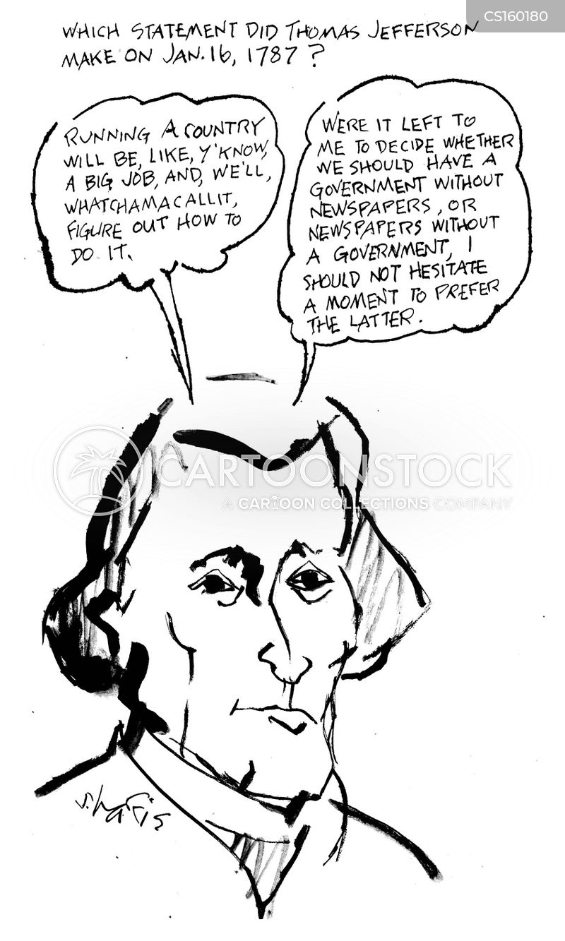 thomas jefferson cartoon