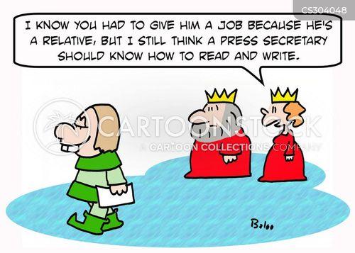 literacy rate cartoon