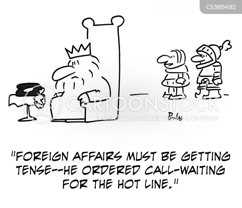 hot line cartoon