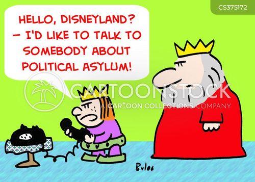 political asylum cartoon
